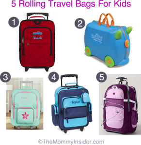 5 Rolling Travel Bags for Kids
