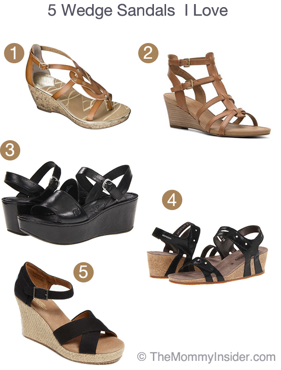 5 Wedge Sandals I Love - Cork, Leather, and Wooden Wedges