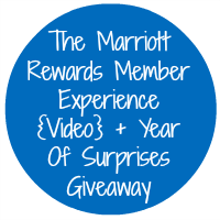 The Marriott Rewards Member Experience {Video} + Year Of Surprises Giveaway