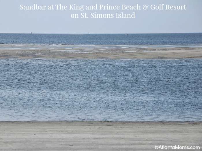The King and Prince St. Simons Island sandbar