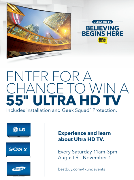 Ultra HD In-Store Events Happening At Best Buy August 9-November 1