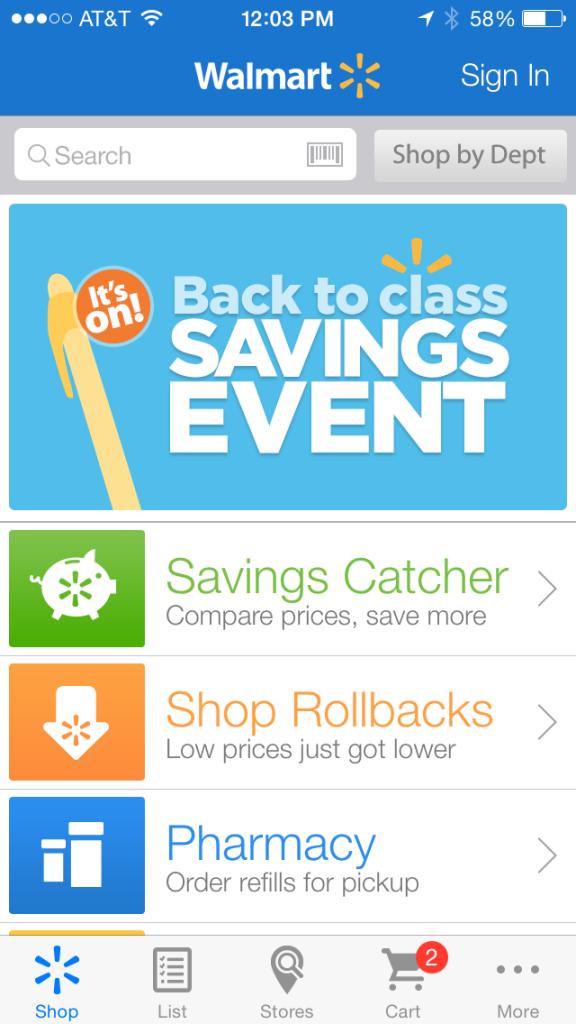 Walmart ios app