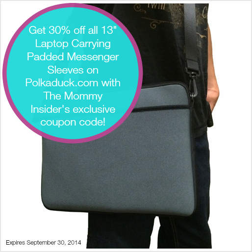 Back-To-School Coupon Code: 30% Off Laptop Carrying Padded Messenger Sleeve! {Exclusive Coupon Code}
