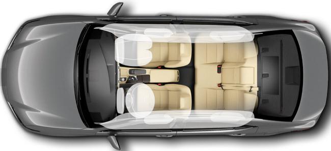 Lexus ES 350 airbags
