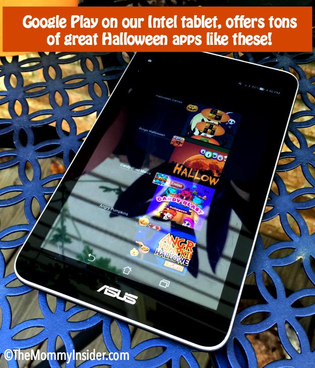 Halloween apps on Intel Tablet asus memo pad 7