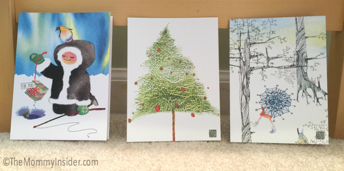Watercolor Holiday Greeting Cards by Masha D'yans