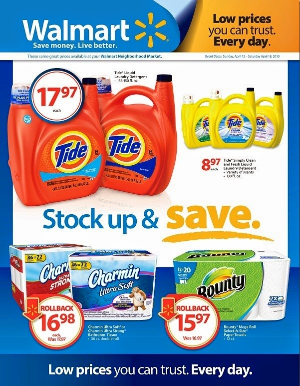 Walmart Stock Up and Save Ad