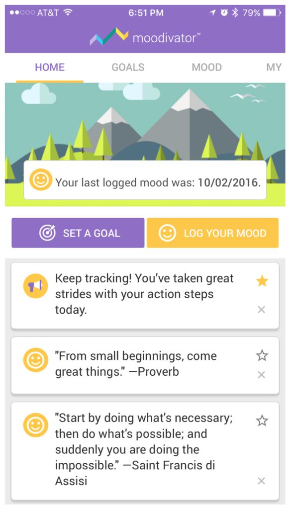 Moodivator iOS app