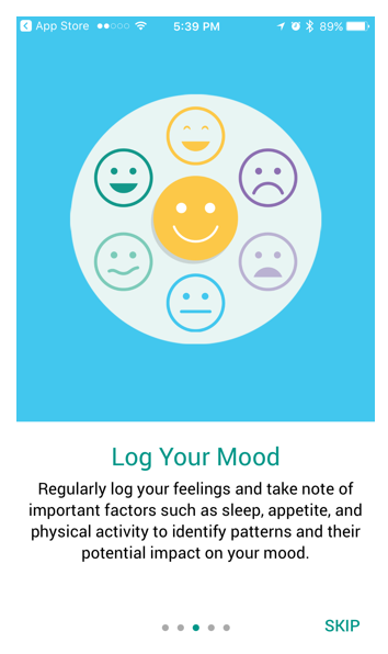 iOS mood tracking app